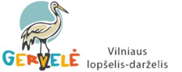 """Vilniaus lopšelis-darželis """"Gervelė"""" Logo"""